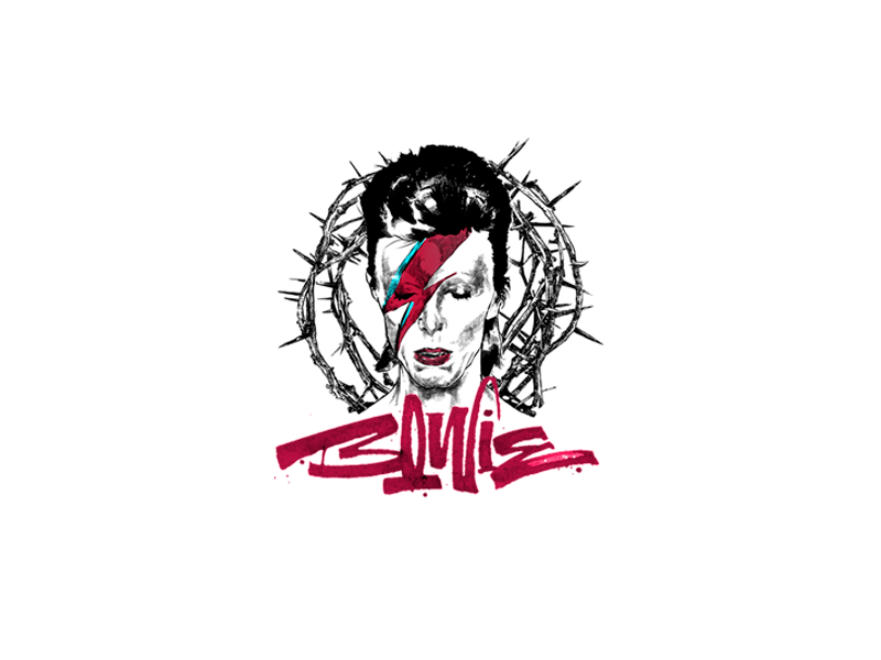 Dawid Bowie typography motion logo lettering calligraphy branding brand animation illustration graphic bowie