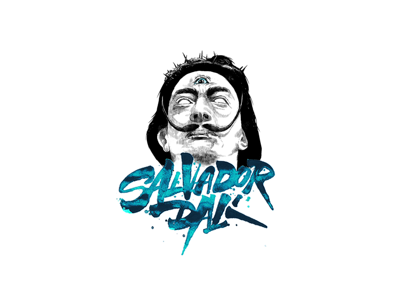 Salvador Dali vector type typography motion logo lettering calligraphy branding illustration graphic dali salvador