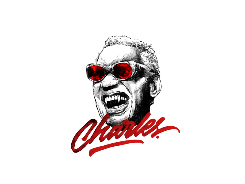 Ray Charles vector typography motion logo lettering calligraphy branding type illustration jazz charles ray