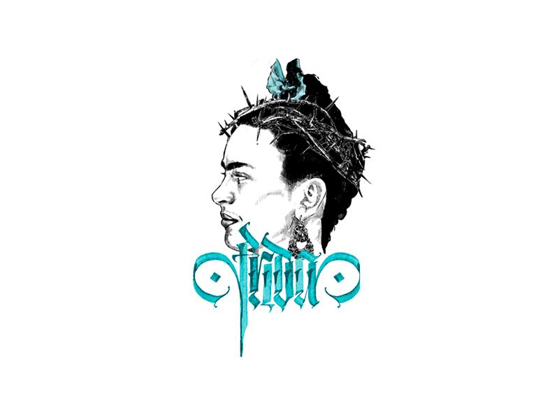 Frida Khalo typography motion logo lettering calligraphy branding brand animation illustration graphic khalo frida