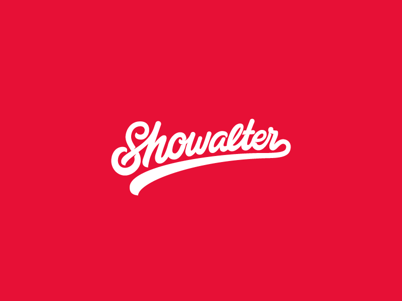 Showalter script typography type sketch vector logo illustration custom brushpen branding brand