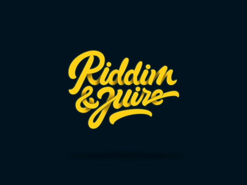 Riddim & Juize vintage vector typography type script motion logo glow branding brand american 3d