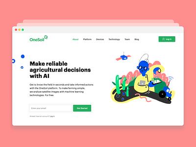 OneSoil – Website right onesoil startup ueno studio web ui belarus ux responsive web design