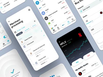 Platio – Mobile App finance banking crypto ui mobile app product design neuomorphism neuomorphic neomorphism design ux ueno right
