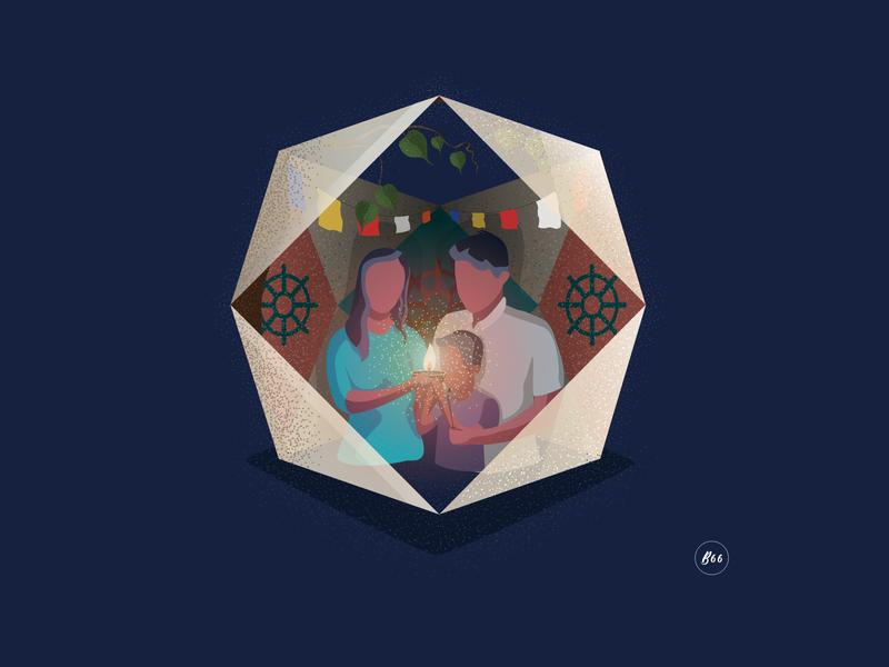 Another Perception of Vesak sinhala celebration buddhist buddhism concept srilanka vector illustration