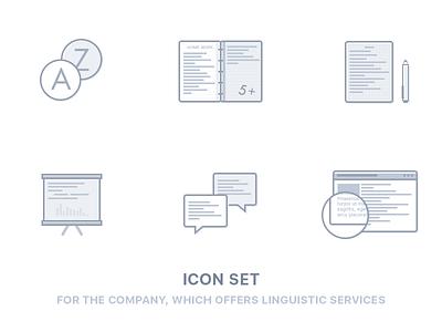 Icon set linguistic services artsurf linguistic services icon