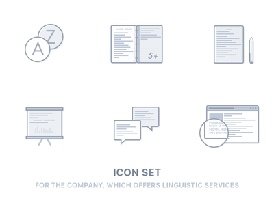 Icon set linguistic services