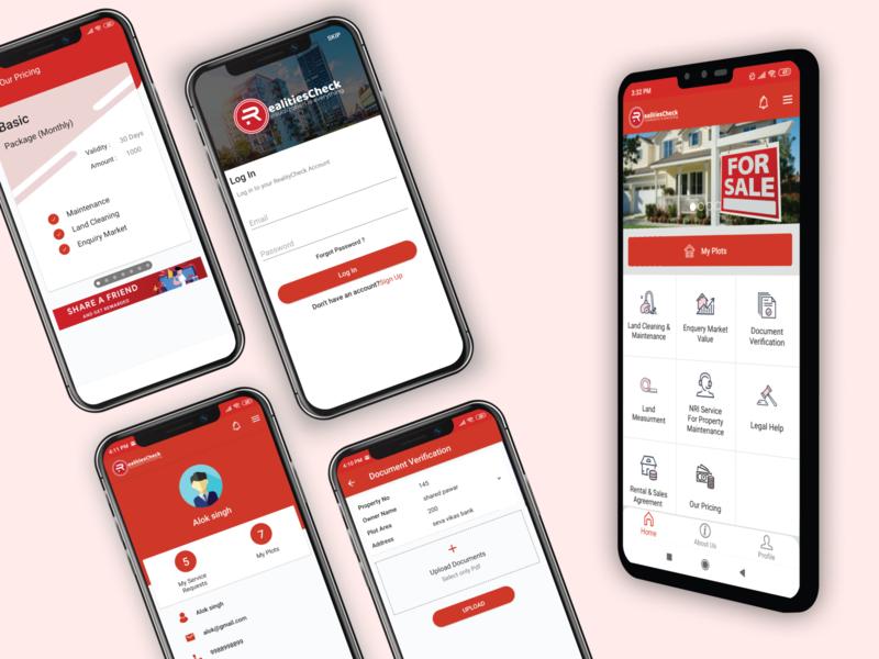 RealitiesCheck animation app mobile app branding ui ux design ios app design android app design