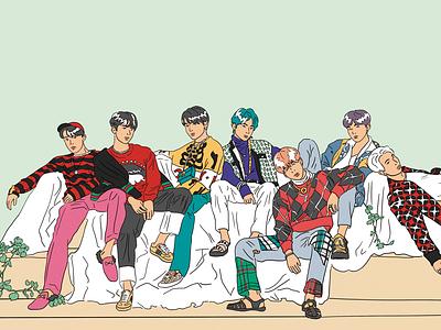 persona kpop bts illustration