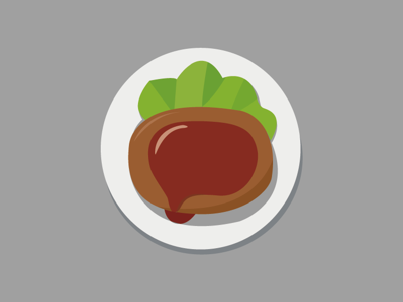 steak steak food color flattening flatten ios7 plant plate dish dinner invitation