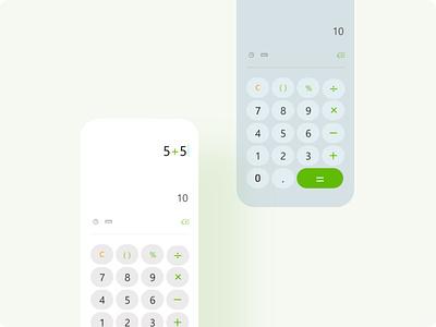 Calculator- Daily UI 004 app minimal dailyui figma ux clean ui calculator