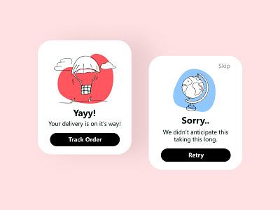 Flash Message- Daily UI 011 ui ux success message error message apple watch flash message 404 dailyui minimal ux ui app