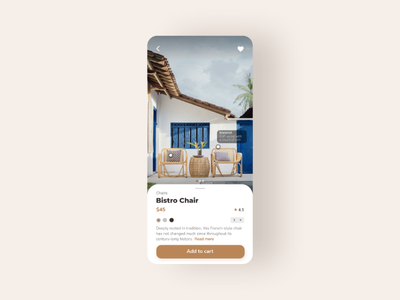 E- Commerce shop - Daily UI #012 minimal dailyui012 dailyui uxdesign userexperience appdesign funiture productdesign uiux ux ui
