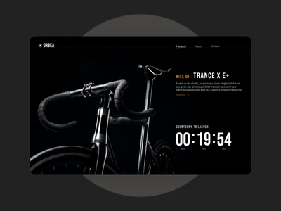 Countdown Timer - Daily UI #014 userexperience countdown countdowntimer dailyui014 dailyui website webdesign darktheme ux ui bike