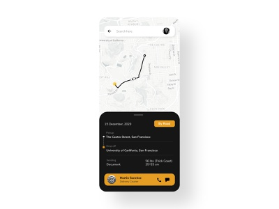 Location Tracker- Daily UI #020 location tracker location delivery map userinterfacedesign dailyui020 uxdesign uidesign locationtracker