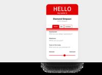 Hello Contact Card Rebound