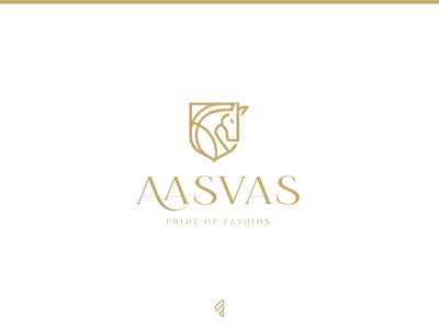 Fashion Brand 'Aasvas' | logo design | famebro icon fashion vector typography minimal famebromedia design branding