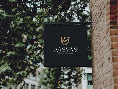 Fashion Brand 'Aasvas' | logo design | famebro design vector typography minimal famebromedia branding