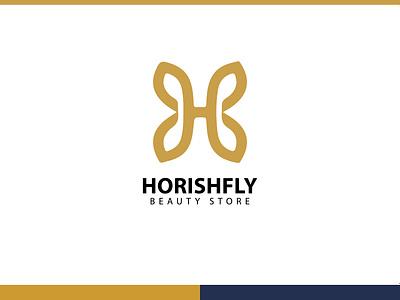 Beauty Store 'HORISHFLY' | Logo design icon logo divine loungewear fashion typography design vector minimal famebromedia branding