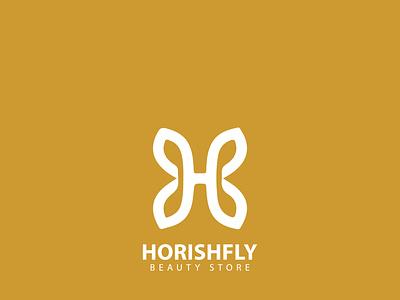 Beauty Store 'HORISHFLY' | Logo design fashion typography design vector minimal app ux illustration famebromedia branding