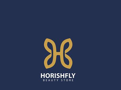 Beauty Store 'HORISHFLY' | Logo design illustration divine logo icon fashion typography design vector minimal famebromedia branding