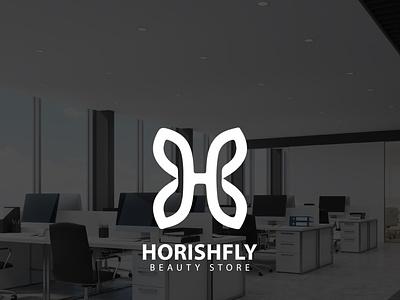 Beauty Store 'HORISHFLY' | Logo design illustration divine logo icon fashion typography minimal design vector famebromedia branding