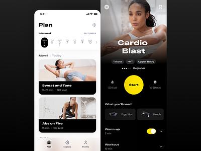 Personal Fitness UI app design ios app ui workout app workout fitness app fitness figma app