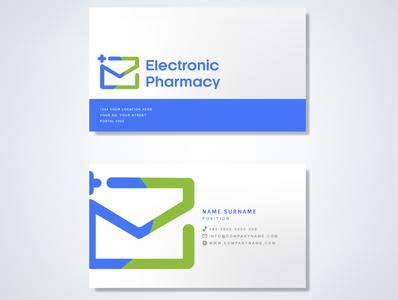 Electronic Pharmacy illustration branding logo design