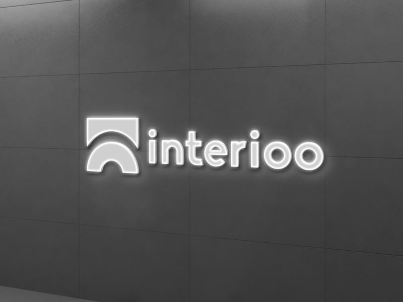 Interioo illustration branding logo design
