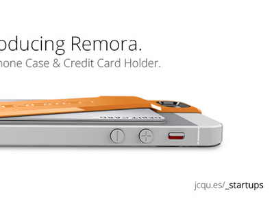Introducing Remora - Design card for my latest interview remora startups orange phone case iphone