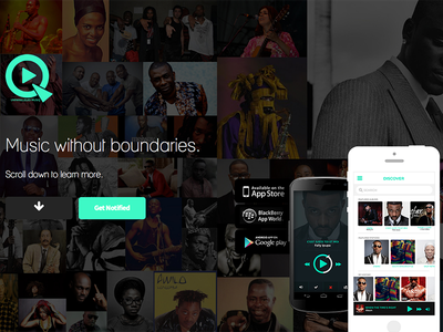 Qube247 - Music app for African genre music africa akon ui ux design iphone android boogie