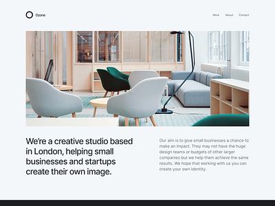 Creative studio - Website mockup minimal ui design minimalist agency web design website webflow