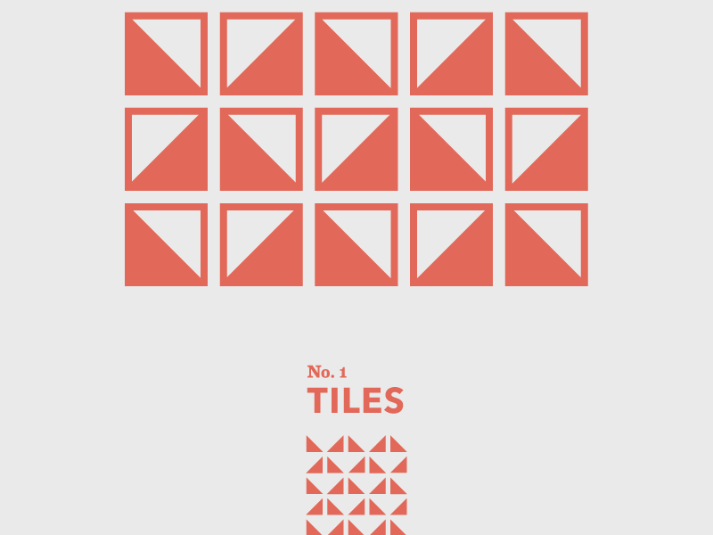 Tiles: No. 1 travel shapes abstract geometric tiles