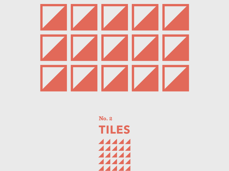 Tiles: No. 2 weather tiles geometric abstract shapes travel