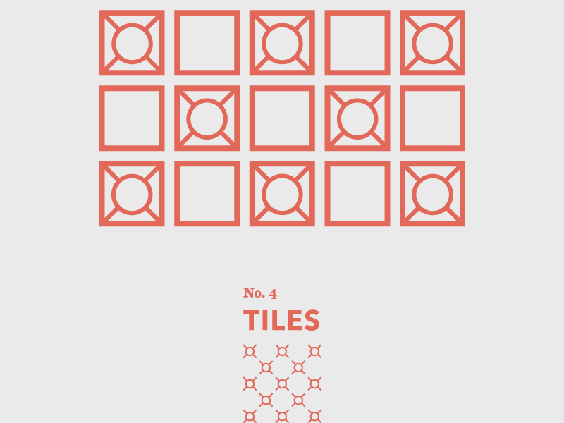 Tiles: No. 4 gothic door weather tiles geometric abstract shapes travel