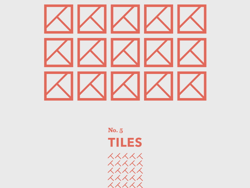 Tiles: No. 5 gothic window door weather tiles geometric abstract shapes travel