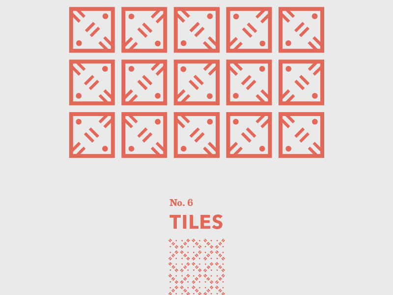 Tiles: No. 6 floor pattern travel shapes abstract geometric tiles