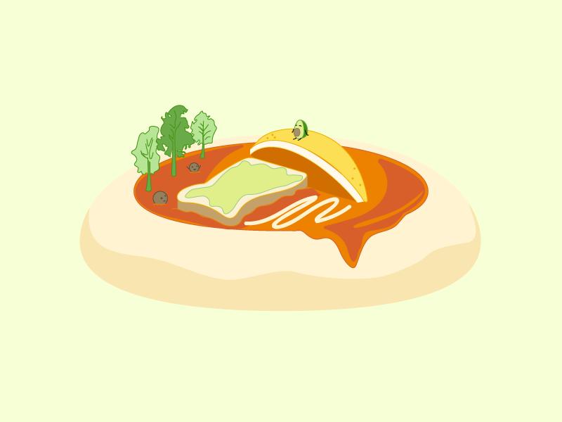 Jump into Toast character design visual cartoon theme park illustration art food avocado