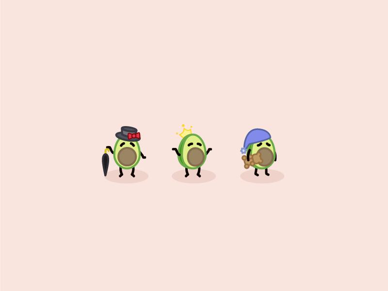 Your Everyday Avo illustrator visual theme park illustration food daily character design cartoon avo avocado art