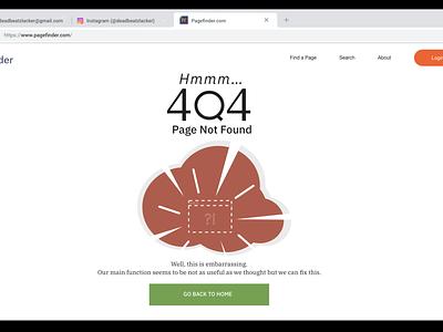 Pagefinder.com 404 vector uxui uiux illustration ux ui design dailyui 009 dailyui009 dailyuichallenge dailyui