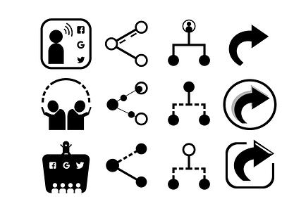 Share Icon Practice branding vector uxui uiux illustration ux ui design dailyui 010 dailyui010 dailyuichallenge dailyui