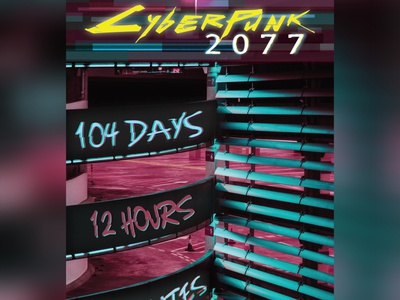 Cyberpunk 2077 Countdown PlsNo+Delay typography uxui uiux dailyui014 illustration dailyuichallenge ux dailyui ui design