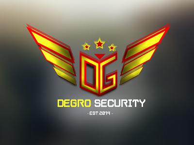 Degro Security | Branding security branding company logo bright wings modern sleek