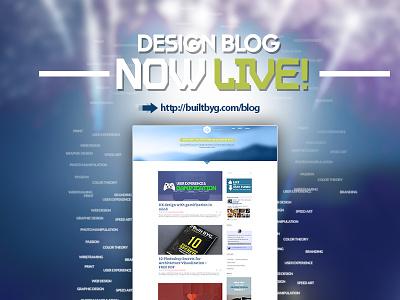 Design Blog Live ux web design graphic design architecture visualization archviz blog launch print