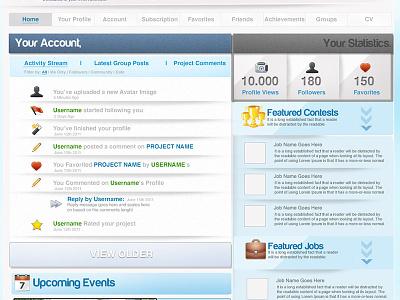 User Dashboard Concept user dashboard ux ui design clean