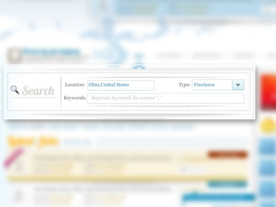 Search Form  search form clean simple ui design