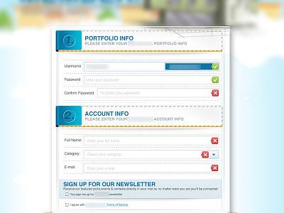 User Signup Form signup form user interface design