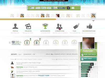 User Dashboard  user dashboard ux ui design clean