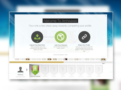 User dashboard on-boarding process user dashboard ux ui design clean gamification onboarding achievements