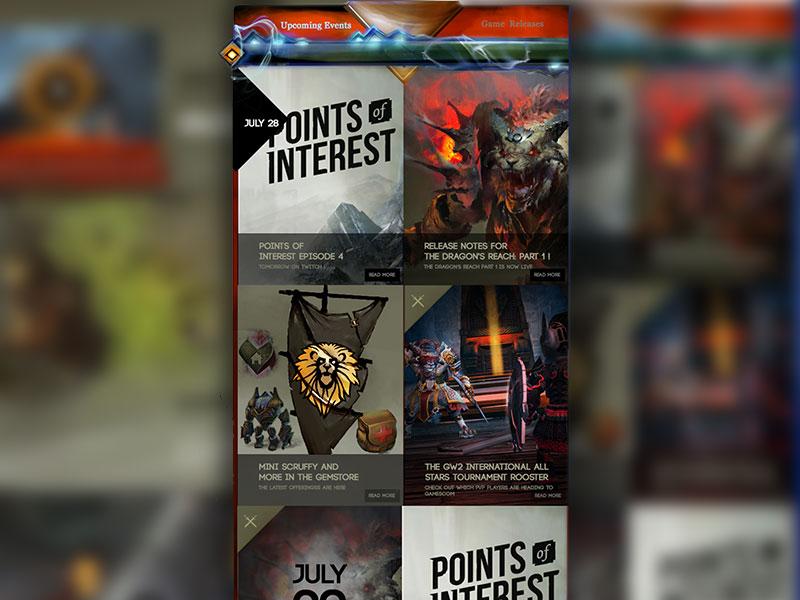 Guild Wars 2 | Website UI Elements by Gradinar Razvan | Dribbble